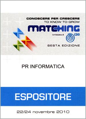 PR Informatica: Pass Matching 2010